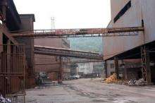 An idle iron and steel mill in central China's Hunan province