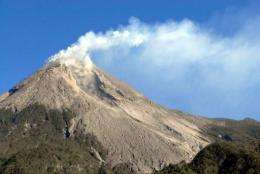 Authorities in Indonesia have raised an alert for the active volcano Merapi