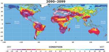 Drought may threaten much of globe within decades
