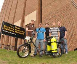 Michigan Tech Seniors Build an Air-Powered Moped