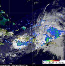 NASA satellites see System 97L serve up a soaking