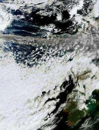 New satellite image of volcanic ash cloud