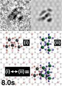 Pivoting hooks of graphene's chemical cousin could revolutionize work of electron microscopes