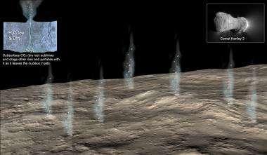 Spacecraft flew through 'snowstorm' on encounter with comet Hartley 2