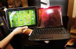 The Lenovo IdeaPad, which serves as a laptop for work tasks then converts to a touch-screen tablet for play time