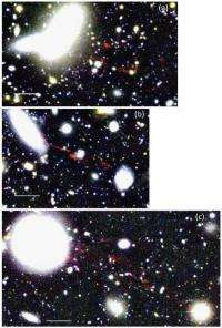 Why do the ionized gas clouds stream out from galaxies?