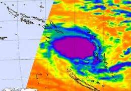 NASA's Aqua Satellite shows strong convection in Tropical Storm Ului