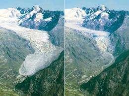 Do Atlantic currents affect Alpine glacier melting?