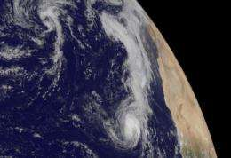NASA satellites help see ups and downs ahead for Depression Lisa