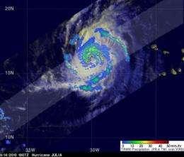 3 NASA satellites seek clues to Hurricane Julia's rapid intensification