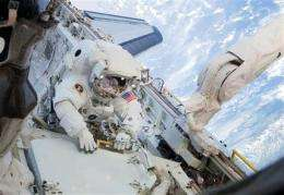 Astronauts hit snag with new space station room (AP)
