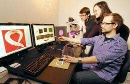 LCD projector used to control brain and muscles of tiny organisms such as worms