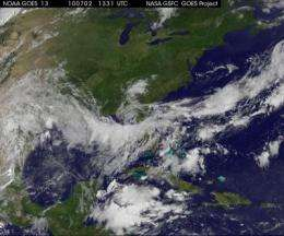 NASA releases GOES-13 satellite movie of the life and times of Hurricane Alex
