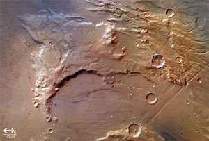 Solis Planum, in the Thaumasia region