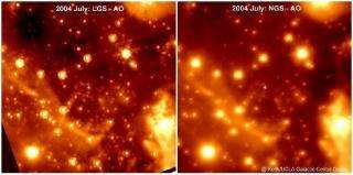 Astronomers Use Laser to Take Clearest Images of the Center of the Milky Way