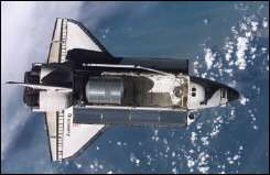 The shuttle Discovery