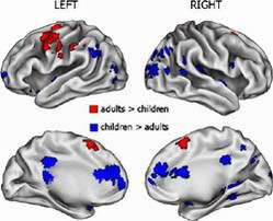 Adult And Child Brains Perform Tasks Differently