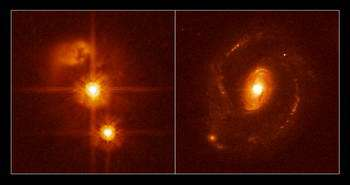 Black hole in search of a home