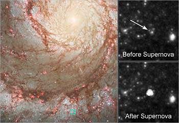 Hubble supernova