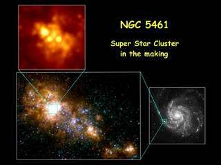 Super-star clusters may be born small and grow by coalescing