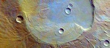 Apollinaris Patera caldera in false color