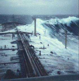 New theory (and old equations) may explain causes of ship-sinking freak waves