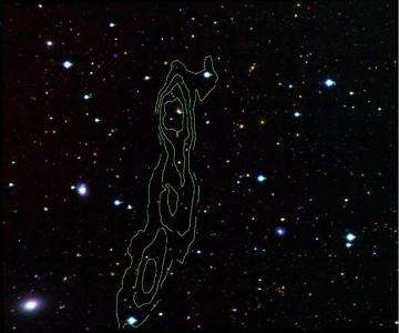 Dark Galaxy VIRGOHI 21 has no starlight but radio waves from neutral hydrogen betray its existence
