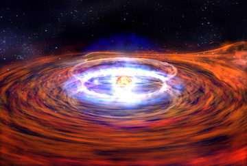 Animation of a neutron star X-ray burst