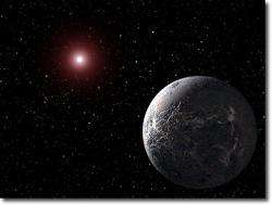 Artist's impression of an exoplanet.