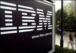 An IBM logo in Seoul