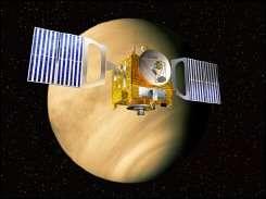 Venus Express in orbit around the Venus