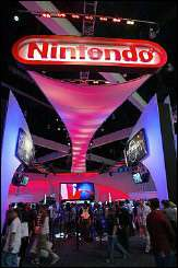 The Nintendo exhibit draws visitors at the Electronic Entertainment Expo, or E3, in 2004