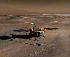 Phoenix Lander heading to Mars in 2007.