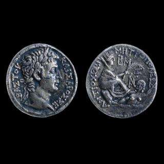 A selection of Roman silver coins being used in the study