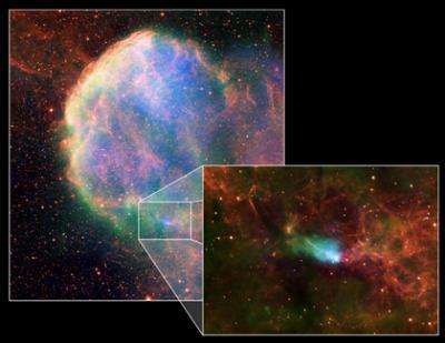 The case of the neutron star with a wayward wake
