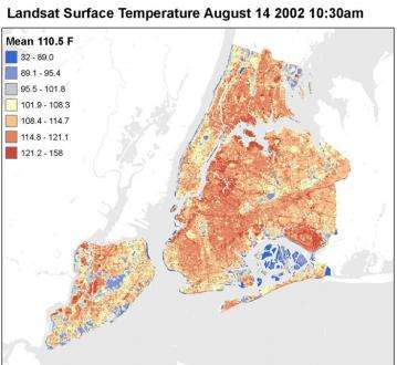 NASA assesses strategies to 'turn off the heat' in New York City