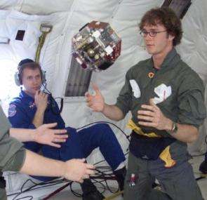 MIT undergrads flight-test a prototype droid onboard NASA's KC-135 reduced gravity aircraft