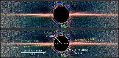 Hubble Reveals Two Dust Disks Around Nearby Star