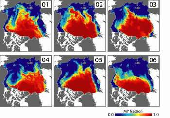 Arctic Replenished Very Little Thick Sea Ice in 2005