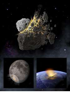 Breakup event in the main asteroid belt likely caused dinosaur extinction 65 million years ago