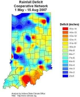 High temperatures, low precipitation creating many problems