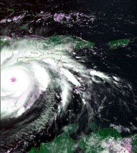 Hurricane Dean tracked from space
