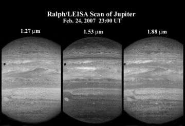 LEISA observes Jupiter