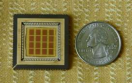 Microchip with Nanosoccer Fields of Play
