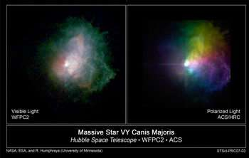 Astronomers Map a Hypergiant Star's Massive Outbursts