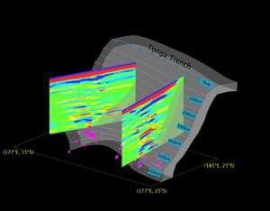 Seismologists discover complex structure in Tonga mantle wedge