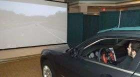 Unique driving simulation helps URI researchers test effectiveness of highway signs