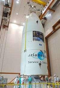 Jules Verne ATV atop launcher