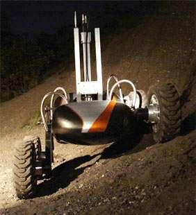 NASA Team Demonstrates Robot Technology For Moon Exploration