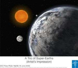 A trio of super-Earths